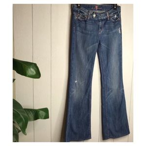 7 For All Mankind | Miller Stretch Flare Jeans EUC